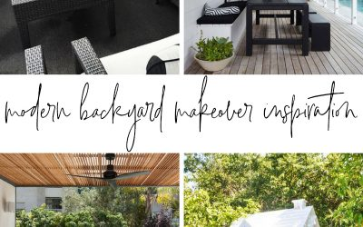 Modern Backyard Makeover Inspiration – One Room Challenge Week 2